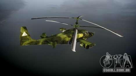 Ka-50 Black shark para GTA 4 traseira esquerda vista
