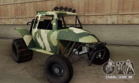 Military Buggy para GTA San Andreas traseira esquerda vista