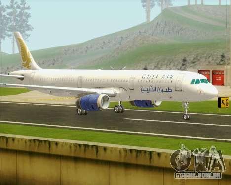 Airbus A321-200 Gulf Air para GTA San Andreas traseira esquerda vista