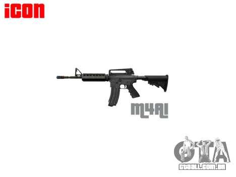 Automático carabina M4A1 para GTA 4 terceira tela