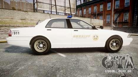 GTA V Vapid Cruiser LSS White [ELS] para GTA 4 esquerda vista
