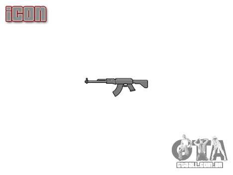 Kalashnikov modernizado (AKM) para GTA 4 terceira tela