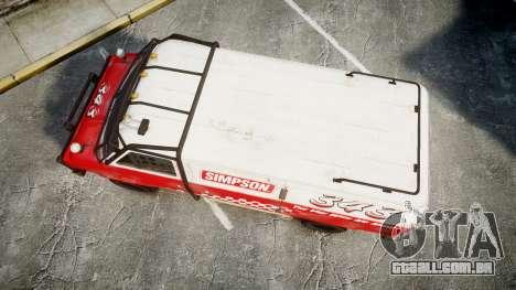 Kessler Stowaway Simpson para GTA 4 vista direita