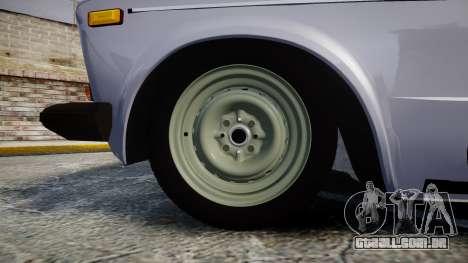 VAZ-2106 seis para GTA 4 vista de volta
