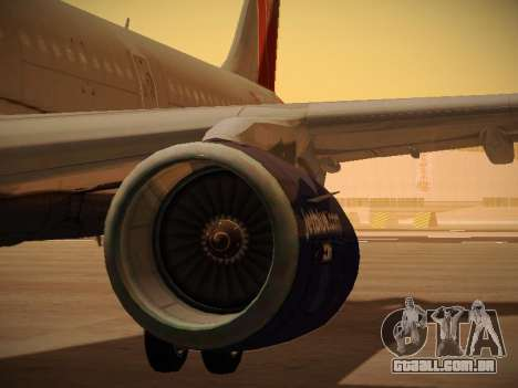 Airbus A321-232 jetBlue Boston Red Sox para as rodas de GTA San Andreas