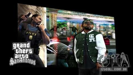 Os ecrãs de carregamento para GTA San Andreas segunda tela