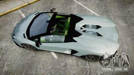 Lamborghini Aventador 50th Anniversary Roadster para GTA 4 vista direita