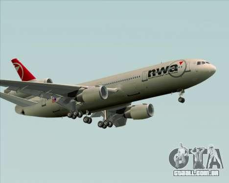 McDonnell Douglas DC-10-30 Northwest Airlines para GTA San Andreas vista superior