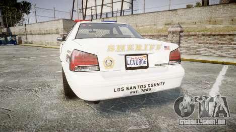GTA V Vapid Cruiser LSS White [ELS] para GTA 4 traseira esquerda vista