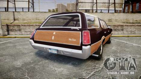 Oldsmobile Vista Cruiser 1972 Rims2 Tree2 para GTA 4 traseira esquerda vista