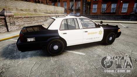Ford Crown Victoria LASD [ELS] Marked para GTA 4 esquerda vista