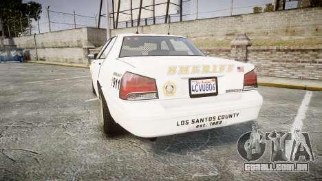 GTA V Vapid Cruiser LSS White [ELS] Slicktop para GTA 4 traseira esquerda vista