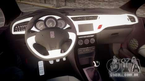 Citroen DS3 Convertible para GTA 4 vista de volta