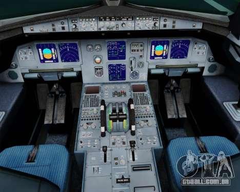Airbus A321-200 Scandinavian Airlines System para GTA San Andreas interior