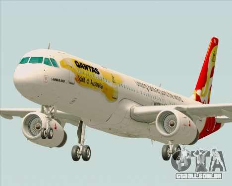 Airbus A321-200 Qantas (Wallabies Livery) para GTA San Andreas