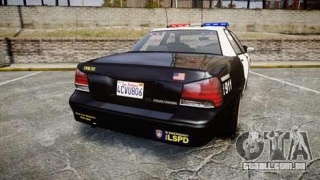 GTA V Vapid Cruiser LSP [ELS] para GTA 4 traseira esquerda vista