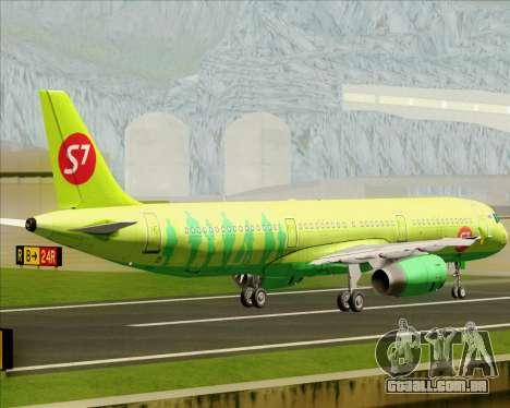 Airbus A321-200 S7 - Siberia Airlines para GTA San Andreas vista traseira