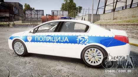 Peugeot 508 Republic of Srpska [ELS] para GTA 4 esquerda vista