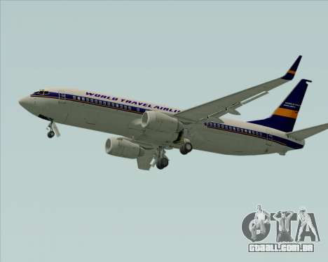 Boeing 737-800 World Travel Airlines (WTA) para GTA San Andreas vista traseira