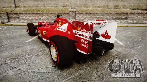 Ferrari F138 v2.0 [RIV] Massa TSSD para GTA 4 traseira esquerda vista