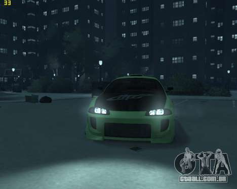 Mitsubishi Eclipse from Fast and Furious para GTA 4 vista direita