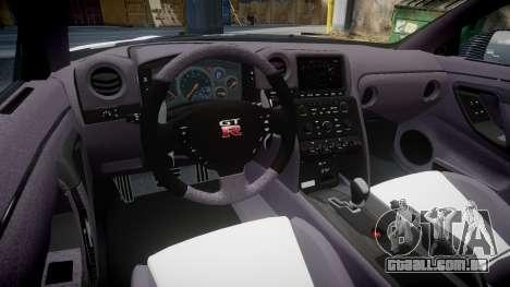 Nissan GT-R R35 Nismo para GTA 4 vista de volta
