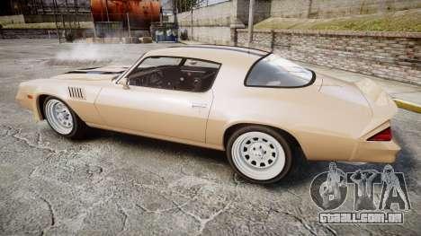 Chevrolet Camaro Z28 1979 para GTA 4 esquerda vista