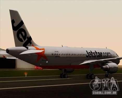 Airbus A320-200 Jetstar Airways para as rodas de GTA San Andreas