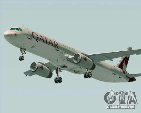 Airbus A321-200 Qatar Airways para GTA San Andreas vista direita