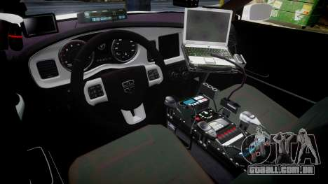 Dodge Charger RT 2013 PS Police [ELS] para GTA 4 vista de volta