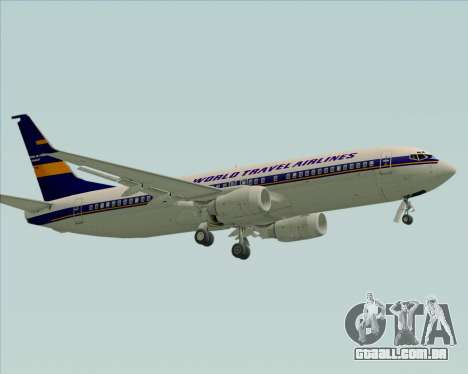 Boeing 737-800 World Travel Airlines (WTA) para GTA San Andreas esquerda vista