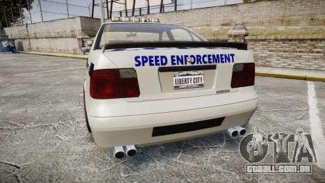 Declasse Merit Police Patrol Speed Enforcement para GTA 4 traseira esquerda vista