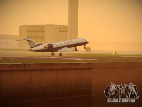 Bombardier CRJ-700 United Express para GTA San Andreas vista inferior