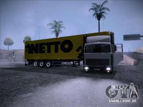 Trailer NETTO para GTA San Andreas vista direita