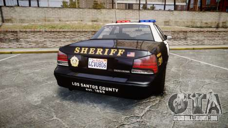 GTA V Vapid Cruiser LSS Black [ELS] para GTA 4 traseira esquerda vista