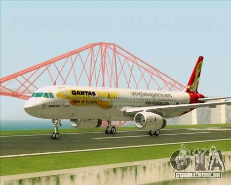 Airbus A321-200 Qantas (Wallabies Livery) para GTA San Andreas vista interior