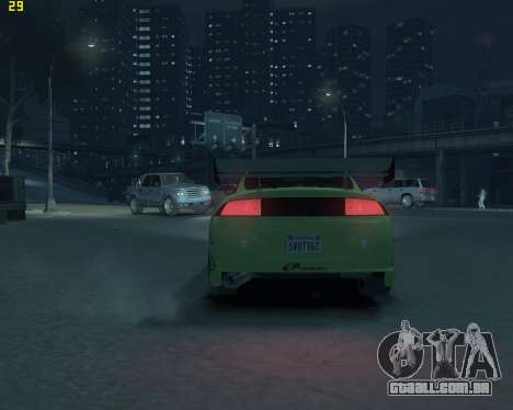 Mitsubishi Eclipse from Fast and Furious para GTA 4 vista de volta