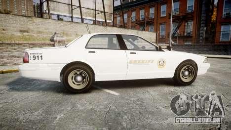 GTA V Vapid Cruiser LSS White [ELS] Slicktop para GTA 4 esquerda vista