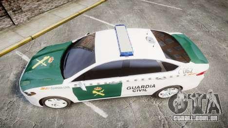 Ford Mondeo 2014 Guardia Civil Cops [ELS] para GTA 4 vista direita