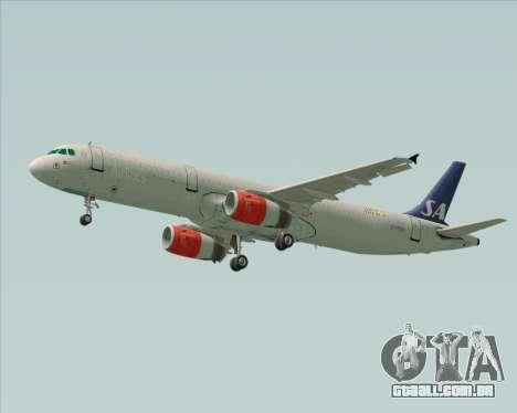 Airbus A321-200 Scandinavian Airlines System para GTA San Andreas vista direita