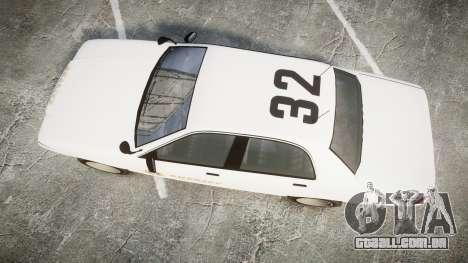 GTA V Vapid Cruiser LSS White [ELS] Slicktop para GTA 4 vista direita