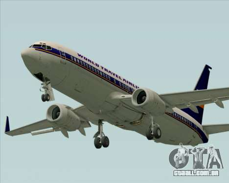 Boeing 737-800 World Travel Airlines (WTA) para as rodas de GTA San Andreas