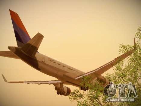 Boeing 757-232 Delta Airlines para GTA San Andreas vista traseira