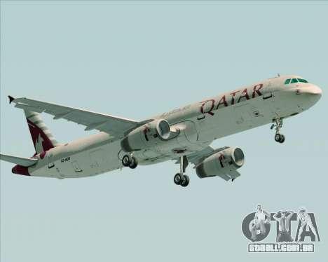 Airbus A321-200 Qatar Airways para GTA San Andreas esquerda vista