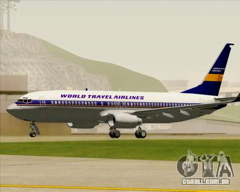 Boeing 737-800 World Travel Airlines (WTA) para vista lateral GTA San Andreas