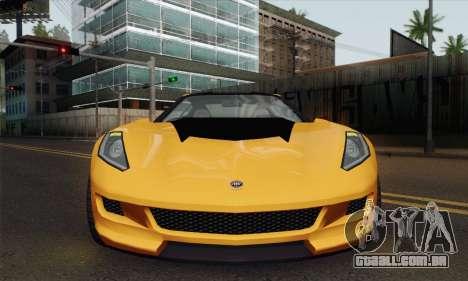 GTA 5 Invetero Coquette (IVF) para GTA San Andreas traseira esquerda vista