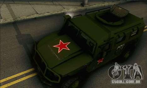 GAZ Tigre 2975 para GTA San Andreas traseira esquerda vista