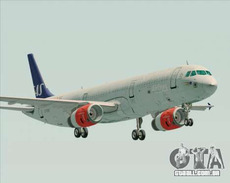 Airbus A321-200 Scandinavian Airlines System para GTA San Andreas