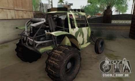 Military Buggy para GTA San Andreas esquerda vista