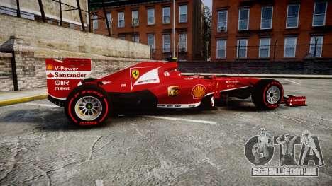 Ferrari F138 v2.0 [RIV] Massa TSSD para GTA 4 esquerda vista